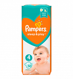 Подгузники Pampers «Sleep & Play» Maxi (9-14 кг) 50 шт