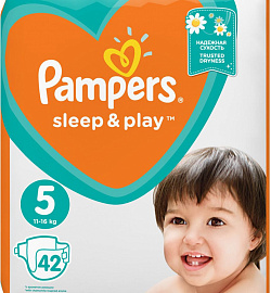 Подгузники Pampers «Sleep & Play»Junior (11-18 кг) 42 шт